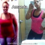 Amanda lost 68 pounds