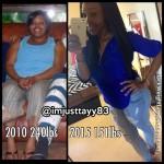 Anisha lost 96 pounds
