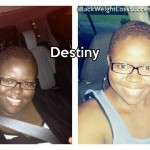 Destiny lost 65 pounds