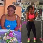 Obaayaa lost 66 pounds
