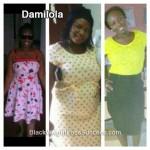 Damilola lost 62 pounds