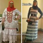 Kandia lost 68 pounds