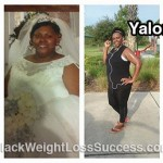 Yalonda lost 107 pounds