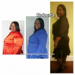 Roberta lost 117 pounds.
