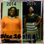 August lost 85 pounds