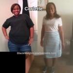 Corlette lost 89 pounds