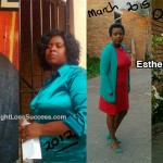 Esther lost 111 pounds