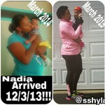 21 pounds gone: Shyrita lost the pregnancy weight