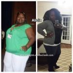 Alicia lost 131 pounds