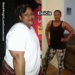 Eleicia lost 51 pounds