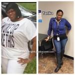 Tanika lost 55 pounds