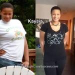 kaysia weight loss story