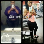 Mesha lost 135 pounds