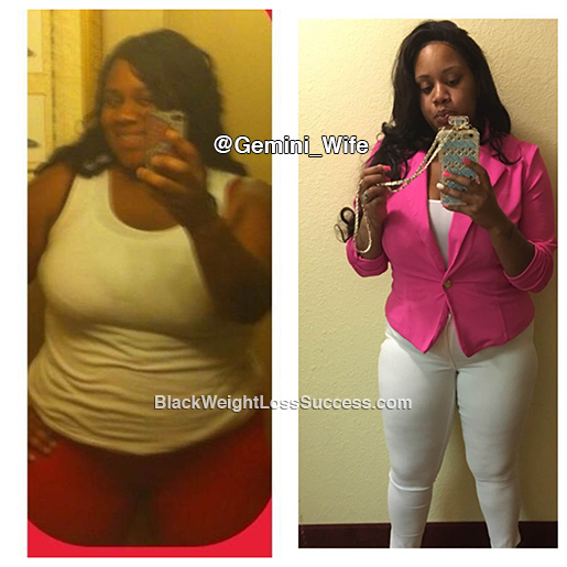 Charnece lost 84 pounds | Black Weight Loss Success