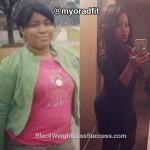 Danielle lost 38 pounds