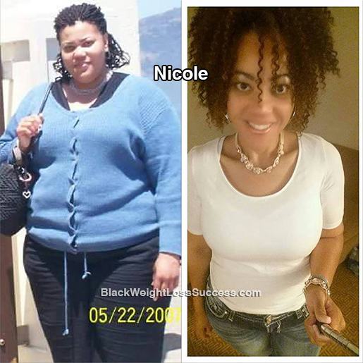 Nicole Lost 219 Pounds Black Weight Loss Success