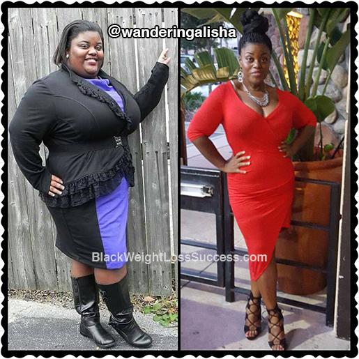 Alisha Lost 138 Pounds Black Weight Loss Success