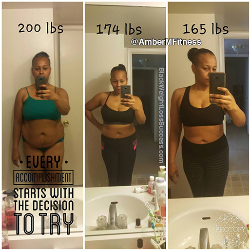 Amber Lost 35 Pounds Black Weight Loss Success