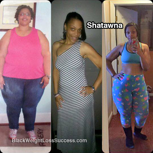 Shatawna Lost More Than 200 Pounds Black Weight Loss Success