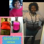 Sondra lost 87 pounds