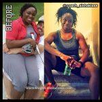 Aisha lost 52 pounds