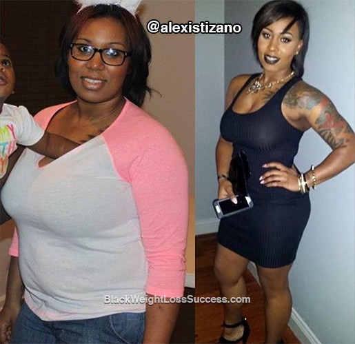 Alexis lost 65 pounds | Black Weight Loss Success