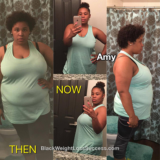 Amy Lost 34 Pounds Black Weight Loss Success