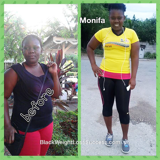 Monifa lost 24 pounds