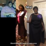 Sibyl lost 106 pounds