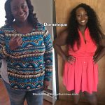 Dominique before and after