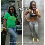 Angela lost 34 pounds