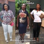 Gladys lost 33 pounds