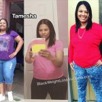 Tamesha lost 108 pounds