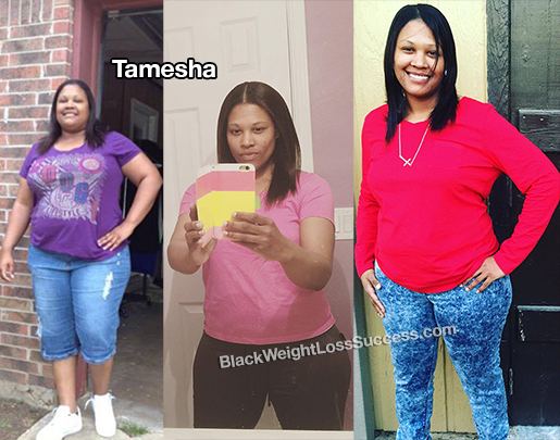 Tamesha lost 108 pounds | Black Weight Loss Success