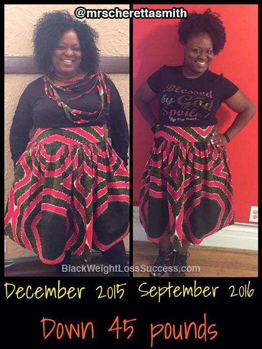 cheretta lost 45 pounds