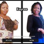 Kaycee lost 59 pounds