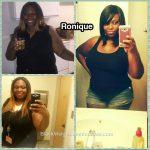Ronique lost 35 pounds