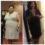 Samantha lost 76 pounds