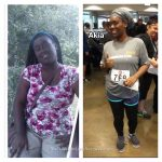 Akia lost 64 pounds