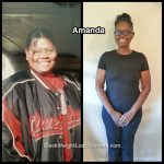 Amanda lost 121 pounds