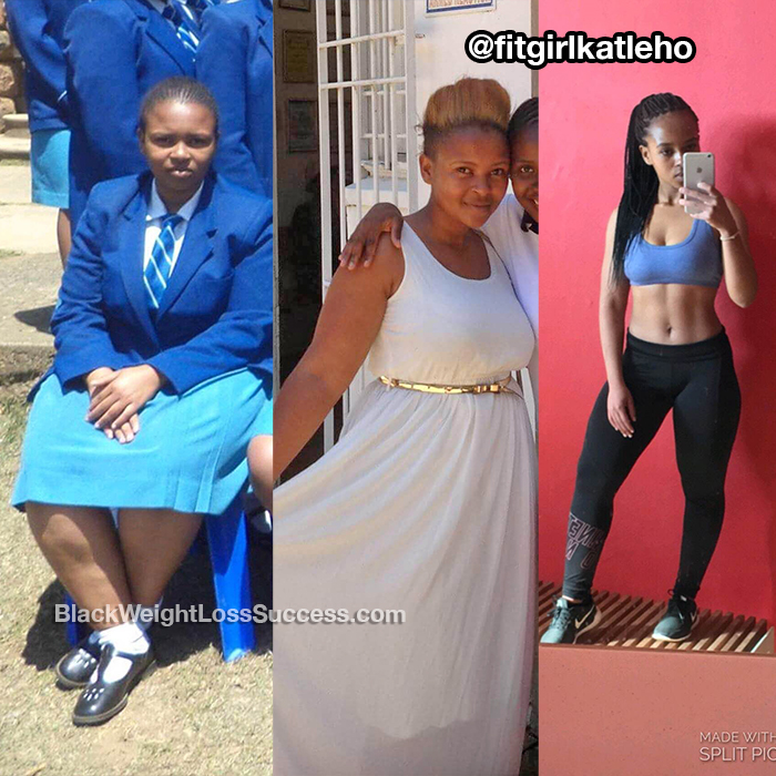 Katleho lost 40 pounds. | Black Weight Loss Success