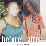 Sharae lost 60 pounds