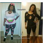 Janae lost 121 pounds