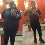 Hope lost 134 pounds