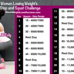 21 day step and squat challenge