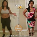 Natasha lost 22 pounds