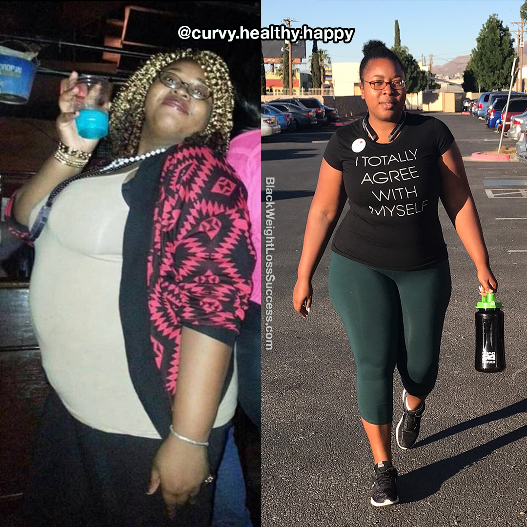 Precious lost 106 pounds | Black Weight Loss Success