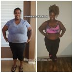 Nicole lost 136 pounds