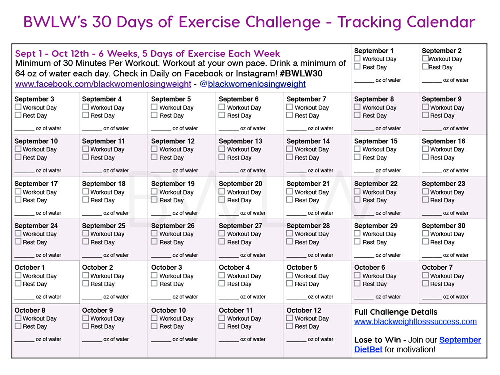 30 Day Exercise Challenge and DietBet | Black Weight Loss ...
