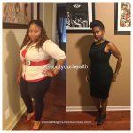 Jacinta lost 105 pounds